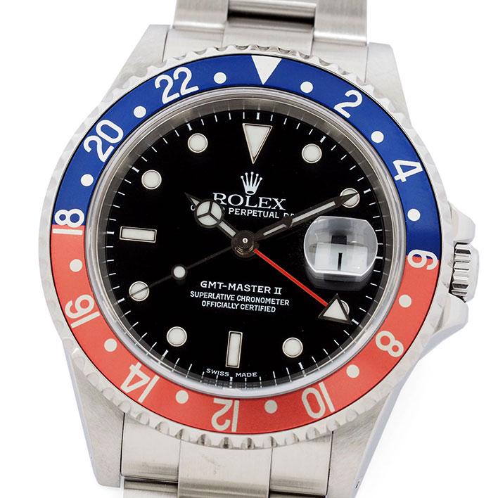 ロレックス GMTマスターII Ref. 16710 メンズ ROLEX GMT-MASTER II【中古】【腕時計】