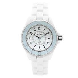 シャネル 腕時計 CHANEL J12 33mm レディース H4464 ホワイト セラミック デイト クォーツ 電池 ウォッチ ブランド CHANEL 送料無料 中古 ギフト プレゼント ご褒美 秋