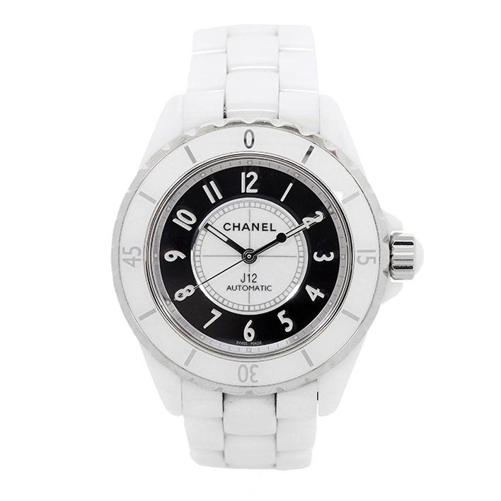 【中古】【未研磨品】 シャネル J12 ミラー Ref. H4862 メンズ CHANEL J12 MIRROR【腕時計】