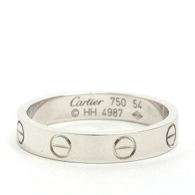 カルティエ 指輪 ミニラブリング 18金ホワイトゴールド サイズ 46/47/48/49/50/51/52/53/54/55/56/57/58 リング Cartier 新品仕上げ済み 中古