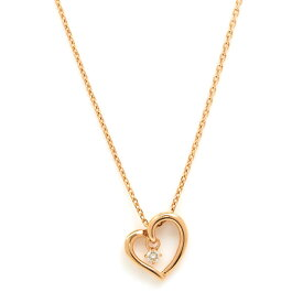 [Used] Yonde Sea 1P Meredia Heart Motif 10K Pink Gold [Pendant] [GOODA]