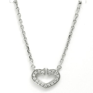 [Used] [New Finished] Cartier C Heart Symbol Diamond K18WG [Pendant]