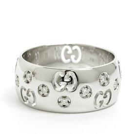 【中古】グッチ ダイヤモンド ICON アイコン リング 18金ホワイトゴールド 11号【指輪】【GOODA掲載】【新品仕上げ済み】