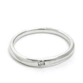 【中古】ヨンドシー 1P メレダイヤ リング 10金ホワイトゴールド 12号【指輪】【GOODA掲載】