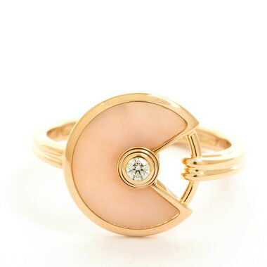 [Used] [New finished] Cartier pink opal diamond amulet de Cartier ring 18K pink gold 48 [Ring]