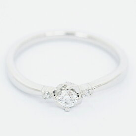 [Used] Yondosea Diamond Ring Platinum 950 No. 10 [Ring] [GOODA]
