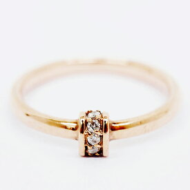 [Used] Agat 5P Meredia Design Ring 10K Pink Gold No. 7 [Ring] [GOODA]
