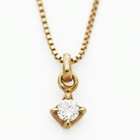 アガット ペンダント ネックレス 1P ダイヤモンド プチ 18金イエローゴールド ブランド agete ギフト プレゼント 送料無料 ご褒美 冬