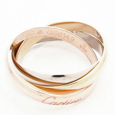 [New Products] [Pre-owned] [New Finished] Cartier Trinity Ring 18K White Gold / 18K Yellow Gold / 18K Pink Gold 50 [Ring]