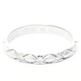 【中古】シャネル マトラッセリング 3Pダイヤモンド プラチナ950 49【指輪】【GOODA掲載】【新品仕上げ済み】