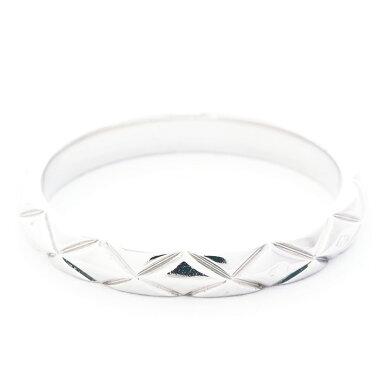 【GOODA掲載】【新入荷商品】【中古】【新品仕上げ済み】シャネルマトラッセリング3Pダイヤモンドプラチナ95049【指輪】