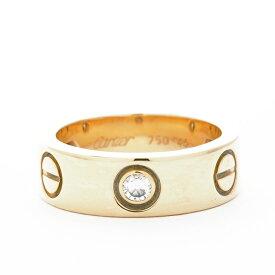 カルティエ 指輪 リング ラブリング 3P ダイヤモンド 18金イエローゴールド サイズ 46 ブランド Cartier ギフト プレゼント 新品仕上げ済み 送料無料 中古