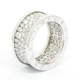 ブルガリ 指輪 リング ビーゼロワン パヴェダイヤモンド ワイドリング 18金ホワイトゴールド 54 ブランド BVLGARI ギフト プレゼント 中古 送料無料
