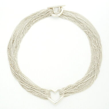[New Finished] Tiffany Heart 10 Chain Toggle Silver [Choker]