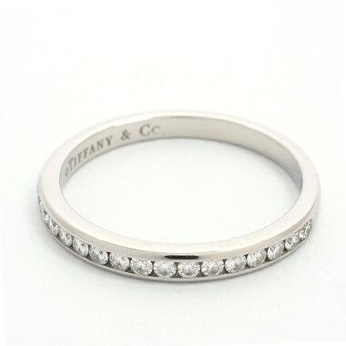 ティファニーハーフエタニティチャネルセットダイヤモンドリングプラチナ95010号【指輪】【新品仕上げ済み】