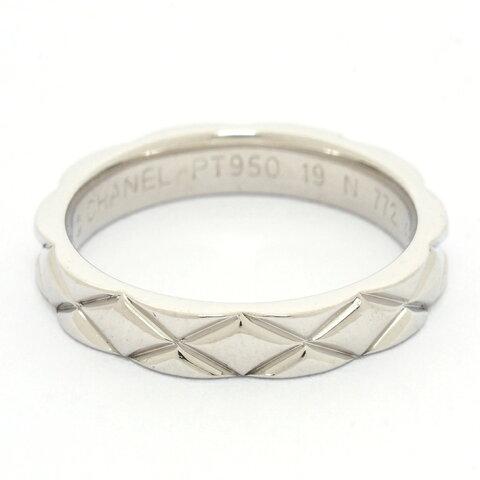 【新品仕上げ済み】シャネル マトラッセテクスチャーリング プラチナ950 48【指輪】