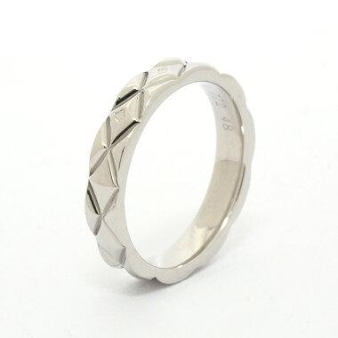 【新品仕上げ済み】シャネルマトラッセテクスチャーリングプラチナ95048【指輪】