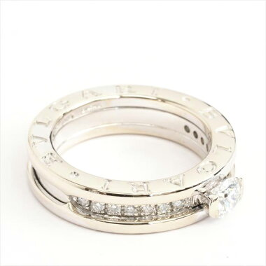 [Baru Selesai] BVLGARI Bvlgari B.ZERO1 Jadilah Zero One Diamond Engagement Ring No. 10 750 / K18WG / Diamond [Used] Ring Gift Present
