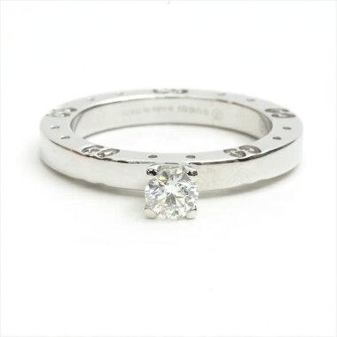 【新品仕上げ済み】GUCCIグッチアイコン1Pダイヤモンドソリテールリング8.5750/K18WG/ダイヤモンド【中古】リングギフトプレゼント