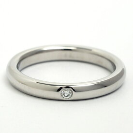 [Pre-owned] Tiffany Elsa Peretti 1P Diamond Stacking Band Ring Platinum 950 8 [Ring] Gift Present [GOODA] [New Finished]