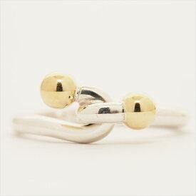 ティファニー リング 指輪 ラブノット リング シルバー/K18YG ブランド TIFFANY&Co. ギフト プレゼント 送料無料 中古