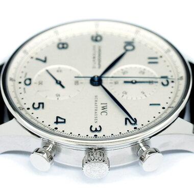 【中古】インターナショナル・ウォッチ・カンパニーポルトギーゼクロノRef.IW371446メンズIWCPortugueseChrono【腕時計】