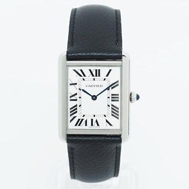 【中古】【未研磨品】カルティエタンクソロLMRef.CRWSTA0028メンズCartierTANKSOLOLM【腕時計】