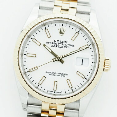 【中古】【未研磨品】ロレックスデイトジャストRef.126233メンズROLEXDATEJUST【腕時計】