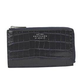 スマイソン 財布 メンズ レディース カードケース SMYTHSON 4CC FLAT COIN PURSE 1024046 MARA カードケース NAVY CHNAV0103