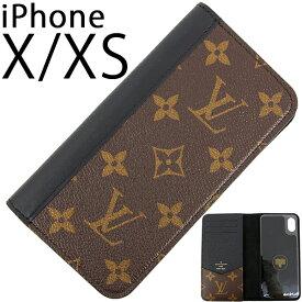 ルイヴィトン アイフォンケース IPHONE X / IPHONE XS フォリオ モノグラム ブラック 黒 レザー LOUIS VUITTON ビトン メンズ レディース 本革 IPHONE ケース スマホケース アイフォン X アイフォン XS カバー 手帳型 カード収納 ブランド プレゼント 新作 新品 送料無料