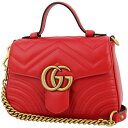 bf1e28c6e Shop Brand Shop AXES · 0107 225 1. GUCCI Mini top handle bag GG marmont  Quilted Leather Hibiscus red GHW Handbag Shoulder bag [New]