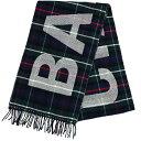 2d7939ca5094 BALENCIAGA Tartan check scarf Wool Navy Green Wool  New