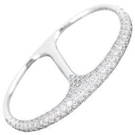 エルメス 指輪 #52 約12号 シェーヌダンクル パンク ダブル リング 2フィンガーリング ダイヤモンド D1.69ct 181石 K18WG ホワイトゴールド ダイヤリング HERMES レディース アクセサリー ジュエリー 小物 ブランド プレゼント 未使用品 送料無料