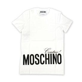 MOSCHINO (モスキーノ) 0703 0540 1001ロゴTシャツ 白Tシャツ Tシャツ トップス レディース