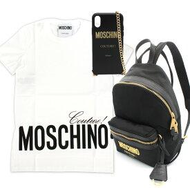 MOSCHINO (モスキーノ) 福袋 SPECIAL 3点 SET0703 0540 1001 + 7638 8205 1555 + 7939 8304 2555ロゴTシャツ 白Tシャツ Tシャツ トップス バックパック リュックサック iPhone X/XS iPhoneケース iPhoneカバー レディース