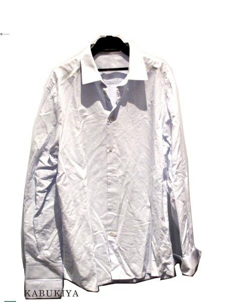 LOUIS VUITTON ルイ・ヴィトン コットン100% ワイシャツ Yシャツ ブルー ドット メンズ・レディース 人気ブランド【中古】 xx17-11870AR