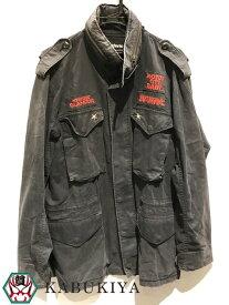 HYSTERIC GLAMOUR ヒステリックグラマーM-65 ジャケット 上着 ミリタリー ジャンパー ブラック系 黒系メンズ 人気ブランド【中古】xx18-3150YU