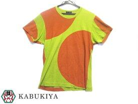 COMME des GARCONS コムデギャルソン HOMME PLUS ドットTシャツ 半袖 トップス PT100330 グリーン オレンジ メンズ 人気ブランド【中古】17-39940IH