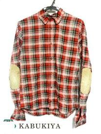Dsquared2 ディースクエアード2 エルボーパッチ チェックシャツ 【44】 Sサイズ コットン レッド系 トップス メンズ 肘当て トップス 上着 ワークシャツ メンズ 衣類 人気ブランド【中古】19-30704Mo