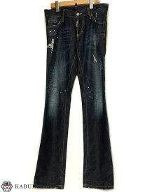 Dsquared2 ディースクエアード ダメージ ペンキ 加工 デニム パンツ サイズ 44 クラッシュ メンズ ジーンズ ボトムス メンズ 人気ブランド【中古】70-413KM