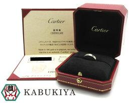 Cartier カルティエ ミニラブ リング B4085100 18K ホワイトゴールド WG 11号 指輪 シンプル メンズ・レディース 人気ブランド【中古】xx18-10396RS