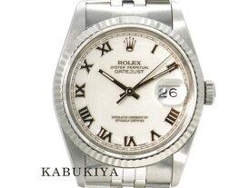 ROLEX ロレックス デイトジャスト 16234 自動巻き オートマティック 腕時計 ウォッチ ドレス 防水 100M シルバー ホワイト 白 メンズ・レディース 人気ブランド【中古】18-30509YU