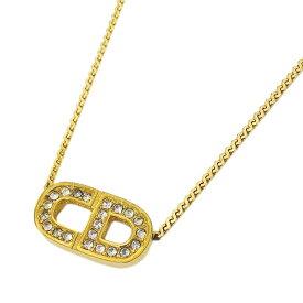 ◆クリスチャン ディオール Christian Dior ネックレス アクセサリー ペンダント ゴールド レディース ロゴ 【中古】