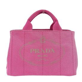 ◆ プラダ PRADA カナパミニ 2wayバッグ デニム ショッキングピンク B2439G 【中古】