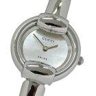 ◆グッチ GUCCI 時計 1400L バングル シェル クオーツ レディース 磨き済み 【中古】
