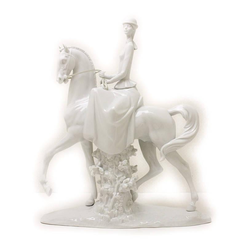 リヤドロ Re‐Decoコレクション 白い馬の少女 日本未発売 01007061【未使用 展示品】