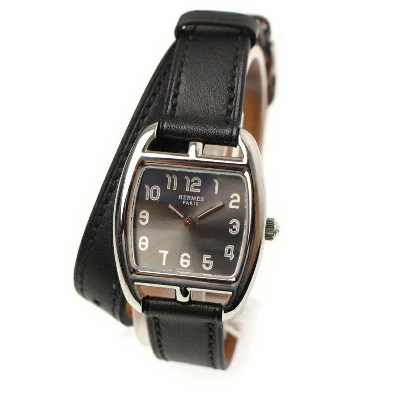 エルメス ケープコッド PM ドゥブルトゥール 腕時計 ブラック CT1.210【美品】