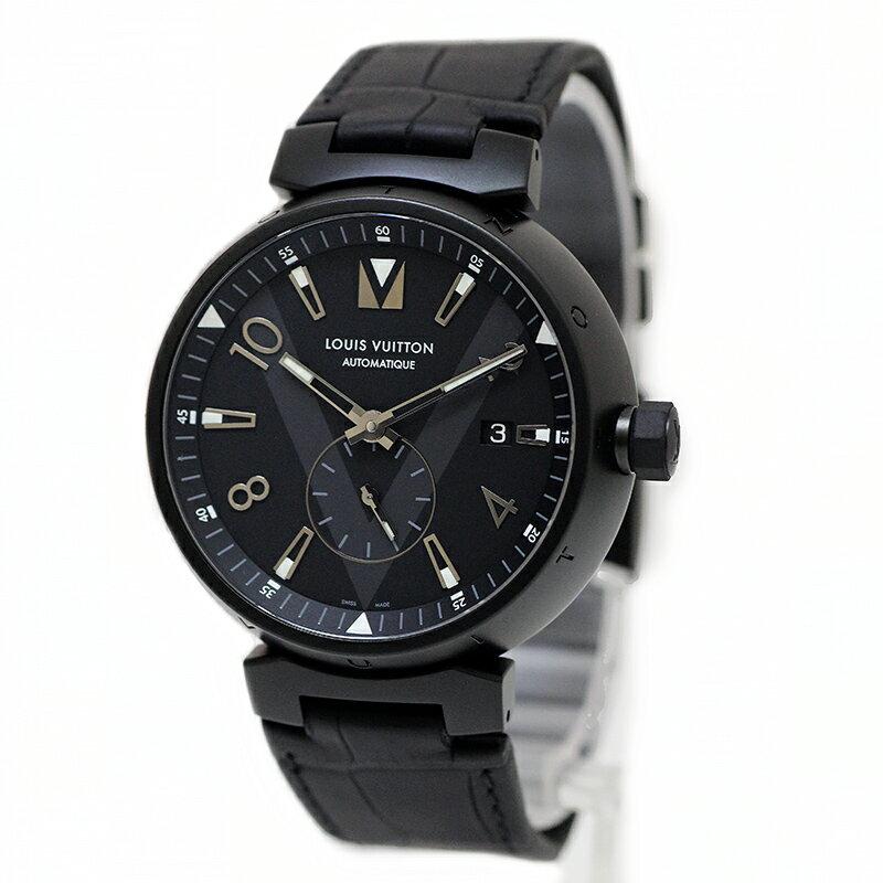 ルイ・ヴィトン タンブール オールブラック オートマティック 2017-18AW メンズ 腕時計 QAAA19 【未使用 展示品】