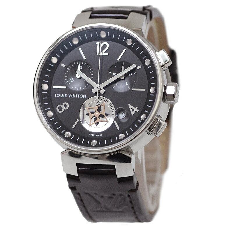 ルイ・ヴィトン タンブール ムーンスター MM ノワール レディース 腕時計 Q8G01Z【未使用 展示品】