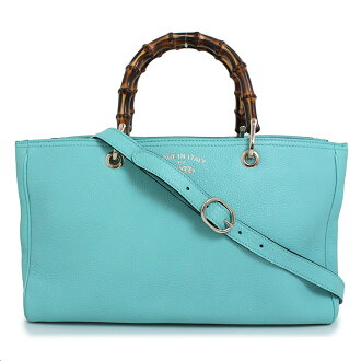 226d7485bab BrandCity  Gucci bamboo shopper 2WAY medium tote bag 323660 light blue